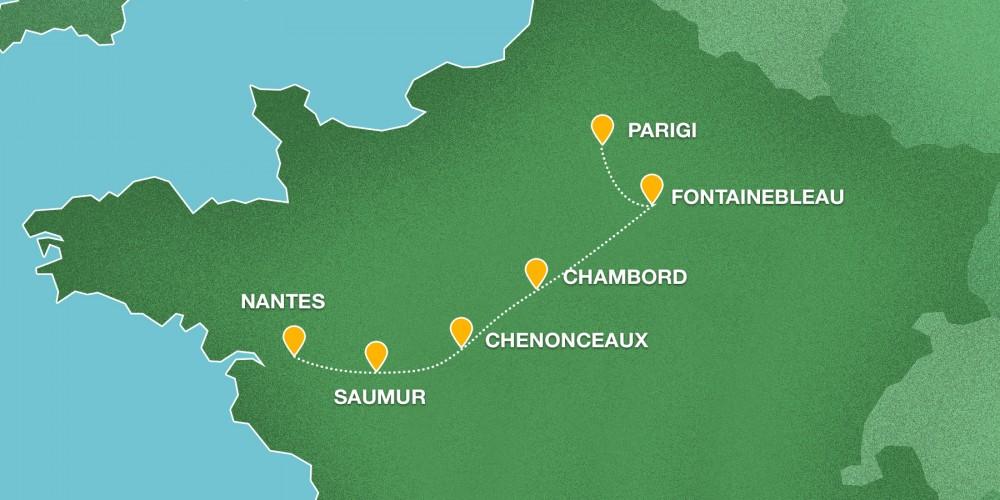 Da Parigi a Nantes: un tour tra i castelli della Loira.