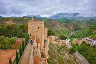 vista di antequera dal castello