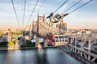 Tramway, funivia che collega una piccola isola nell'East River chiamata Roosevelt Island con Manhattan