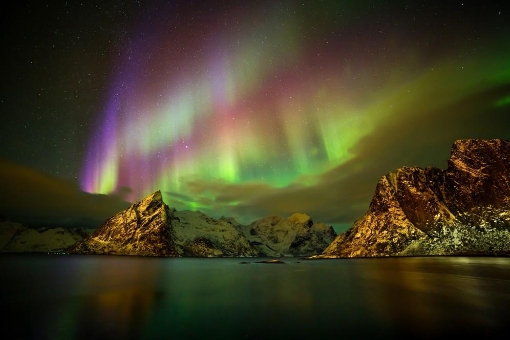 Vedere l'aurora boreale alle lofoten