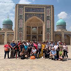 Foto di gruppo viaggio  in Uzbekistan
