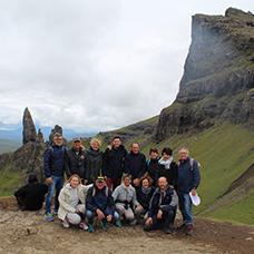 Foto di gruppo viaggio in Scozia
