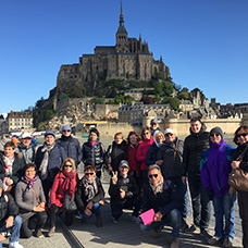 Foto di gruppo viaggio in Francia