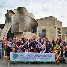Foto di gruppo viaggio a Bilbao