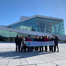 Foto di gruppo viaggio a in Norvegia
