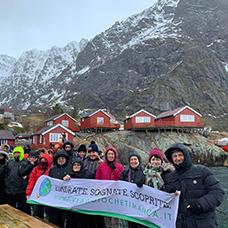 Foto di gruppo viaggio a alle Lofoten