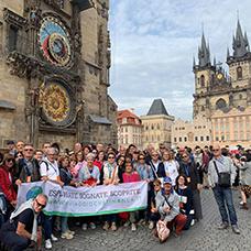 Foto di gruppo viaggio a Praga