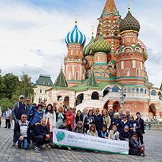 Foto di gruppo viaggio in Russia
