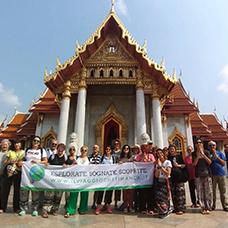 Foto di gruppo viaggio in Thailandia