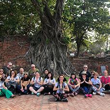 Foto di gruppo viaggio in Cambogia
