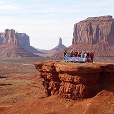 Foto di gruppo viaggio  in America